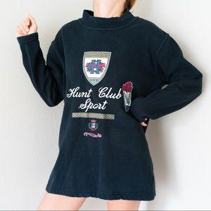 Vintage Hunt Club Sport Crest Logo Sweatshirt